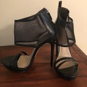 BCBGMAXAZRIA 'Ferned' Mesh Ankle Cuff Heel Size 8